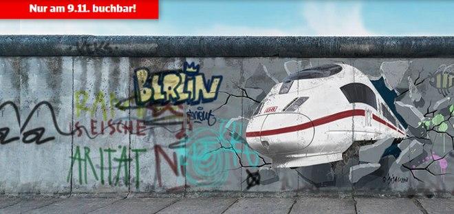 Das DB Mauerfall Spezial-Ticket ist nur am 9.11.2014 zum Einheitspreis von 25 € verfügbar