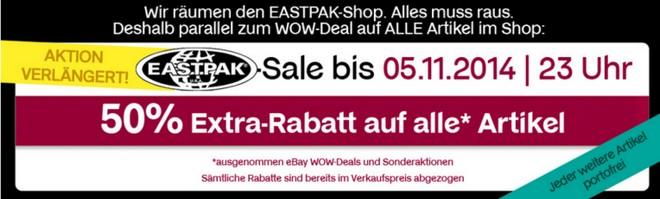 Eastpak Ausverkauf