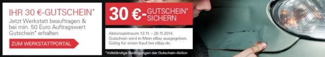 eBay Motors Werkstattportal Gutschein