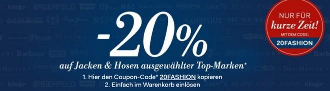 Fashion ID Gutschein Jacken und Hosen