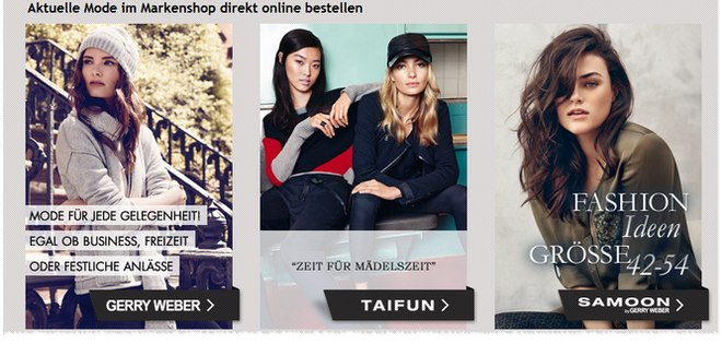 Gerry Weber Online-Marken-Shop