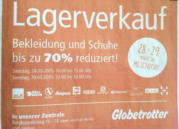 Globetrotter Lagerverkauf Hamburg