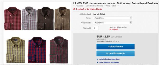 günstige Lands' End Herren-Hemden