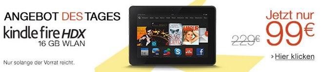 Kindle Fire HDX für 99 € beim Cyber Monday