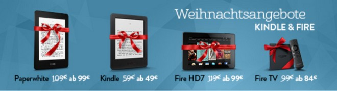 Kindle-Weihnachtsangebote