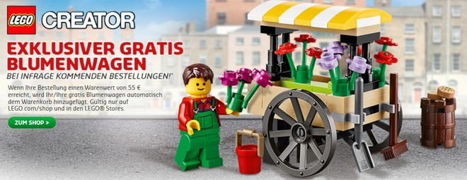 LEGO Gratis-Blumenwagen
