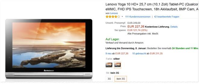 Lenovo Yoga 10 HD Plus Preis