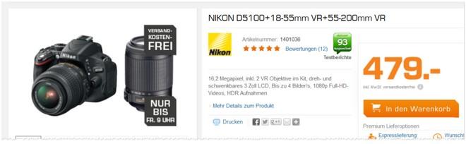 Nikon D5100 VR Objektive