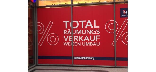 Peek & Cloppenburg Total Räumungsverkauf Norderstedt