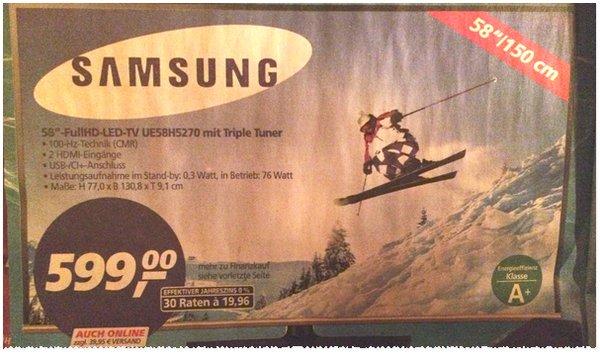 Real 58 Zoll Fernseher Samsung UE58H5270