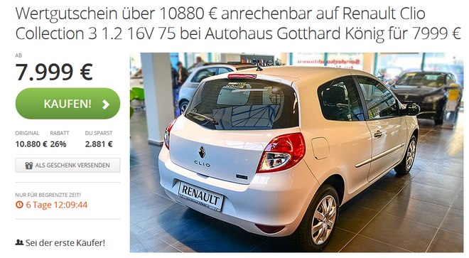 Renault Clio Collection mit Groupon-Gutschein