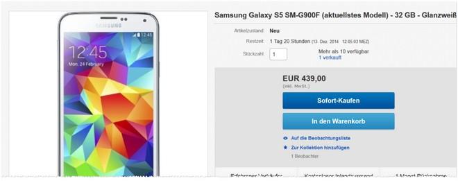 Samsung Galaxy S5 SM-G900F ohne Vertrag