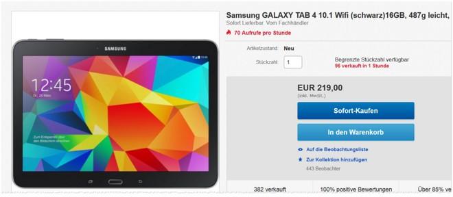 Samsung Galaxy Tab 4 10 Preis