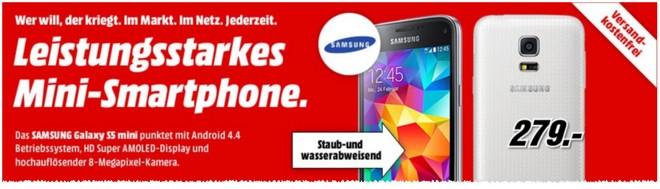 Samsung S5 mini Media Markt Werbung