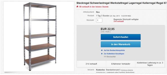Schwerlastregal eBay