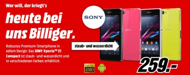 Sony Xperia Z1 Compact bei Media Markt