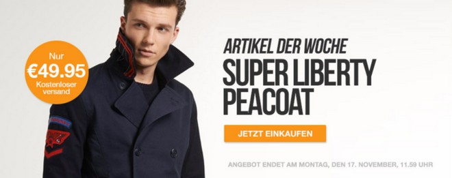 Superdry Super Liberty Peacoat