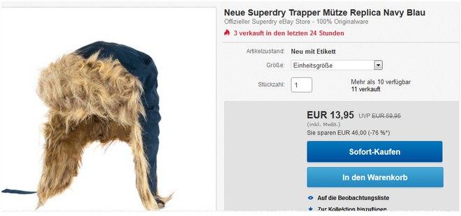 Superdry Trapper Mütze