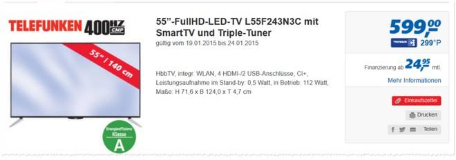 Telefunken L55F243N3C Tests