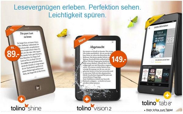 Tolino Shine für 89 € bei Weltbild