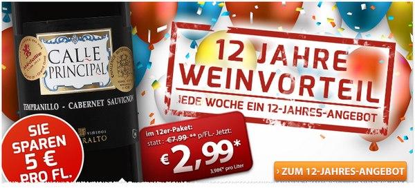 Weinvorteil Angebot 12 Jahre Weinvorteil