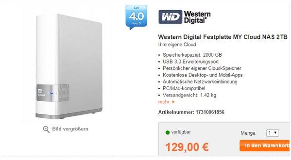 Western Digital My Cloud 2 TB aus der Expert Werbung