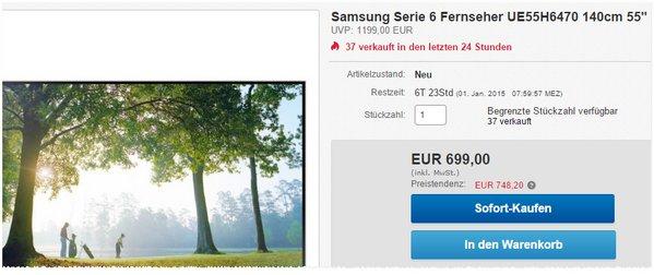 55 Zoll Fernseher Samsung UE55H6470