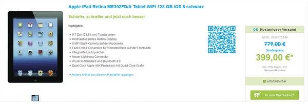 Apple iPad Retina ME392FDA bei One Telecom