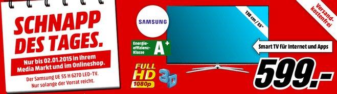 Samsung UE55H6270 als Media Markt Schnapp des Tages am 2.1.2015