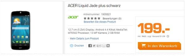 Acer Liquid Jade Plus Saturn