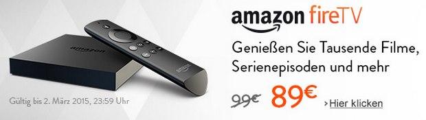 Amazon Fire-TV für 89 € - der Aktionspreis gilt aber auch bei Saturn