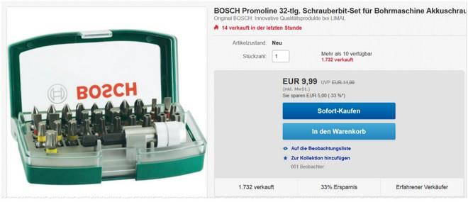 Bosch Promoline Bit-Set