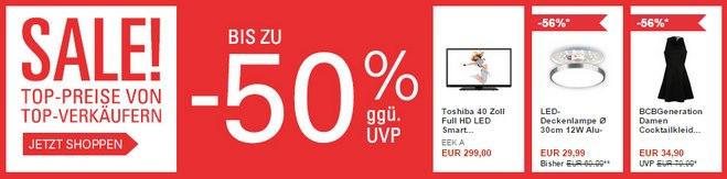 eBay Sale mit 50% Rabatt