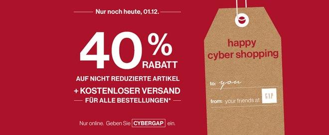 GAP Gutschein am Cyber Monday