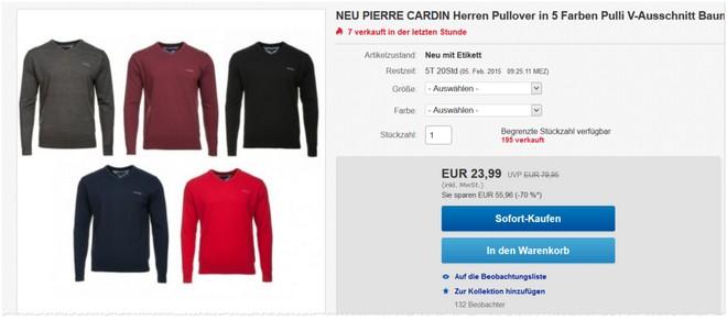 Günstige Pierre Cardin Pullover bei eBay