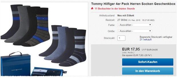 Hilfiger Socken in der Geschenkbox für 17,95 €