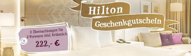 Hilton Geschenkgutschein von Tchibo