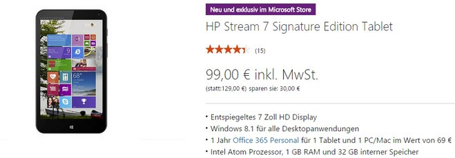 HP Stream 7 Signature Edition