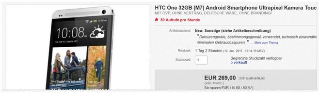 gebrauchte HTC One