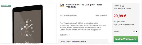 ICE Watch Tab Dark Grey bei Kaufhof