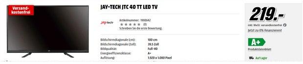 Jay-tech JTC 40 TT bei Media Markt für 219 €