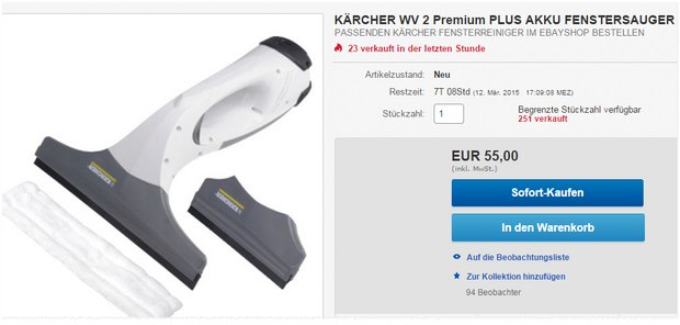 Kärcher WV 2 Premium mit guten Testberichten und Erfahrungen