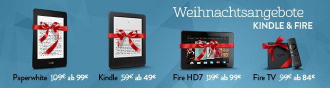 Kindle Weihnachtsangebote