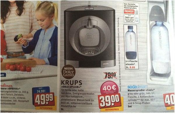 Krups KP1108 Oblo bei REWE für 39 €