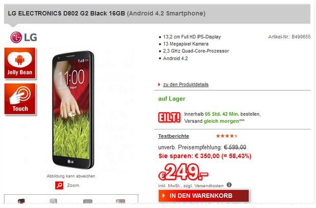 LG G2 D802 bei Redcoon für 249 €