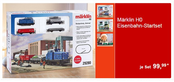 Märklin H0 Modelleisenbahn Startpackung 29280 und 29281
