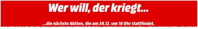 Mediamarkt Tiefpreistag am 24.12.2014