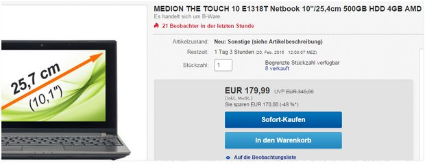 Medion The Touch E1318T