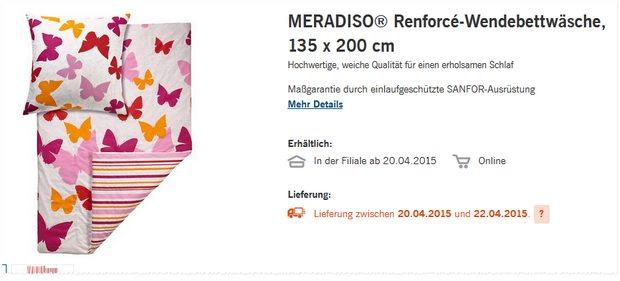 Meradiso Wende-Bettwäsche Renforcé