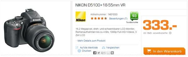 Nikon D5100 + 18-55 VR-Kit